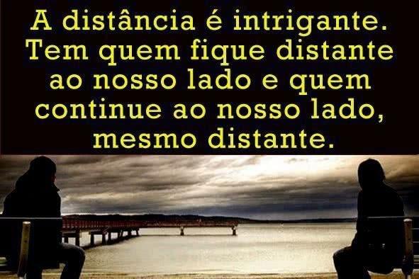 A distância é...