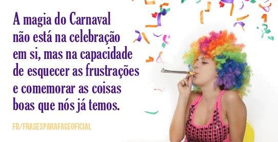 A magia do Carnaval não...