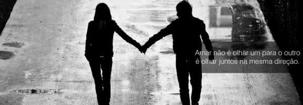 Amar não é olhar um...
