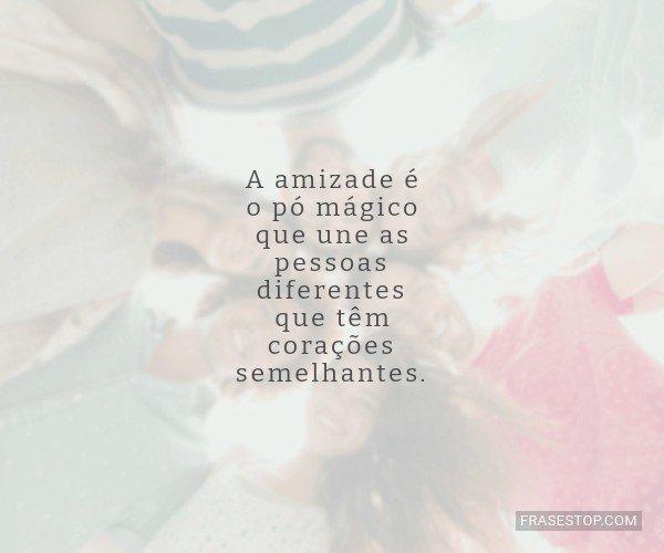 A amizade é o pó...