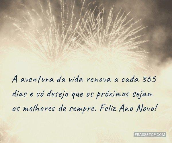 A aventura da vida renova...