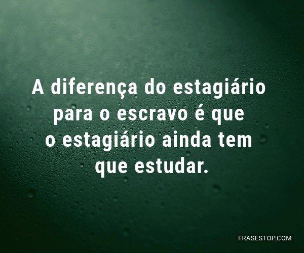 A diferença do...
