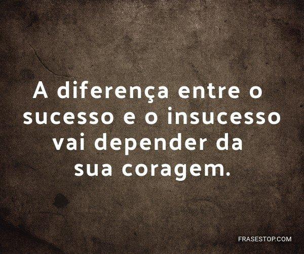 A diferença entre o...