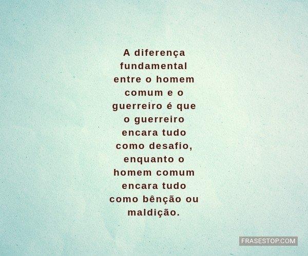A diferença fundamental...