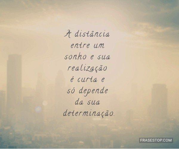 A distância entre um...