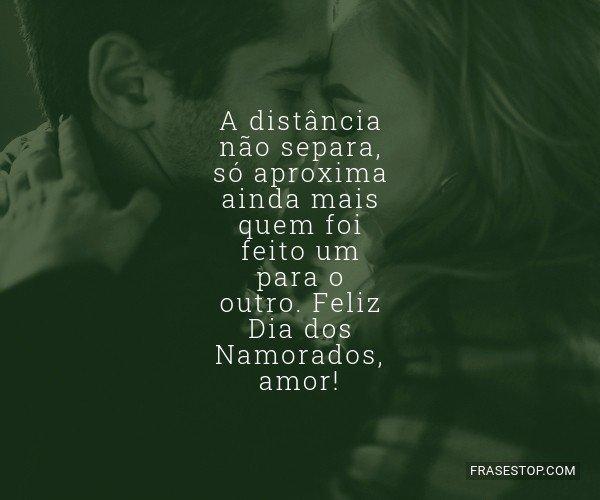 A distância não separa,...