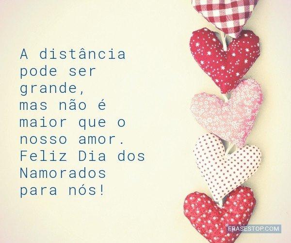 A distância pode ser...
