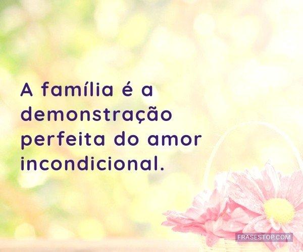 A família é a...