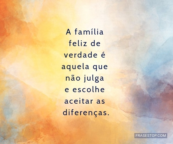A família feliz de...