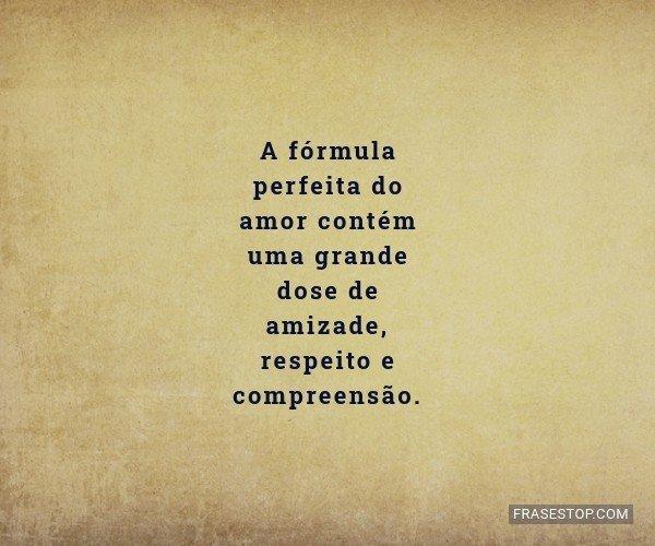 A fórmula perfeita do...