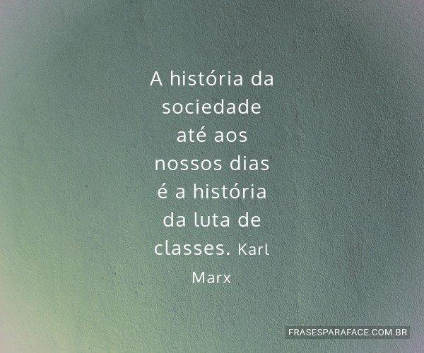A história da sociedade...