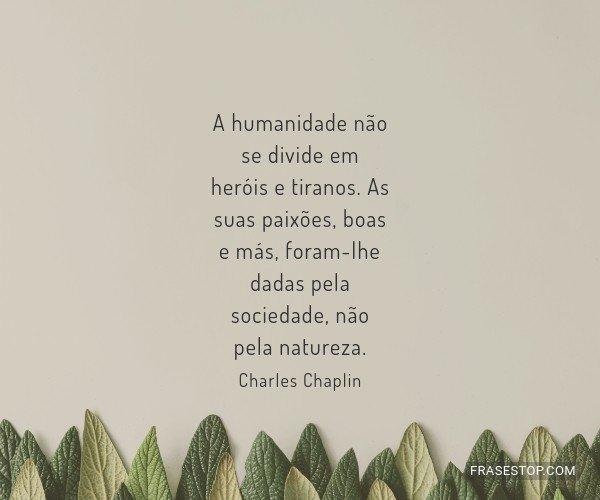 A humanidade não se...