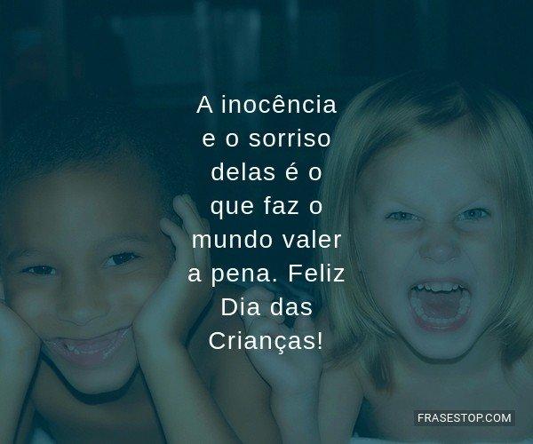 A inocência e o sorriso...