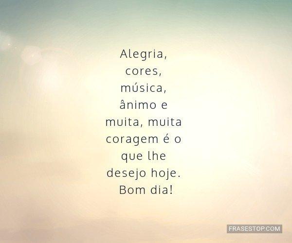 Alegria, cores, música,...