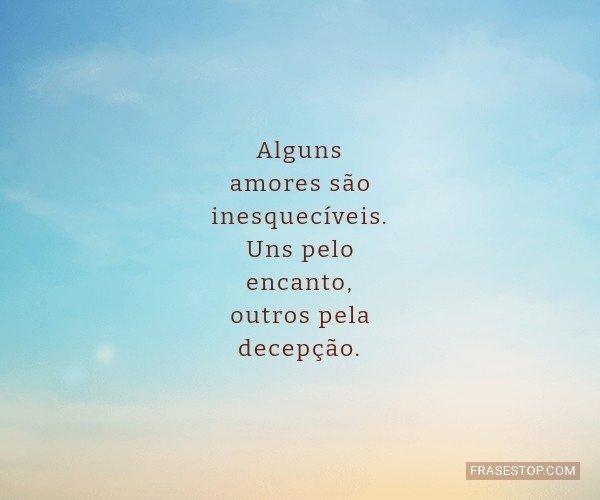 Alguns amores são...