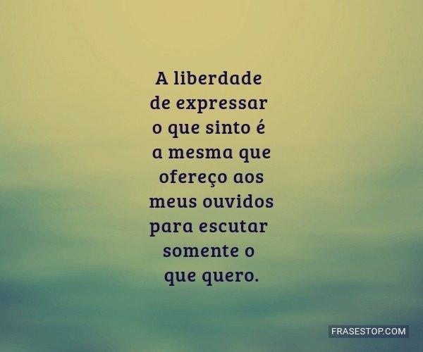 A liberdade de expressar...