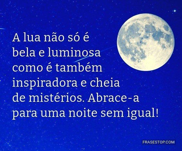 A lua não só é bela e...