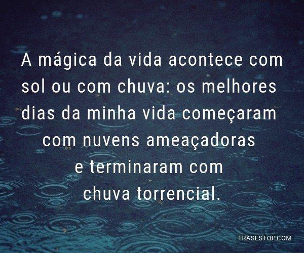 A mágica da vida...