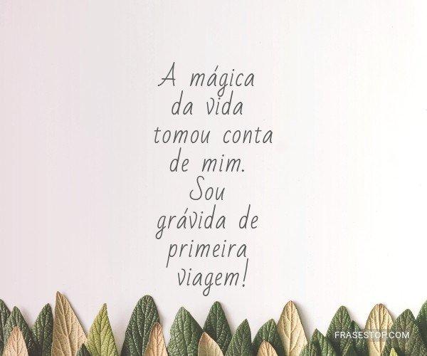 A mágica da vida tomou...