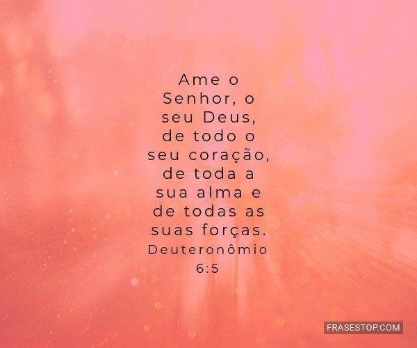 Ame o Senhor, o seu Deus,...