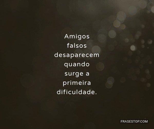Amigos falsos desaparecem...