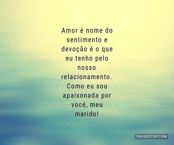 Amor é nome do...