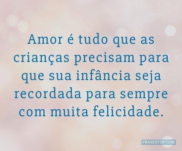 Amor é tudo que as...