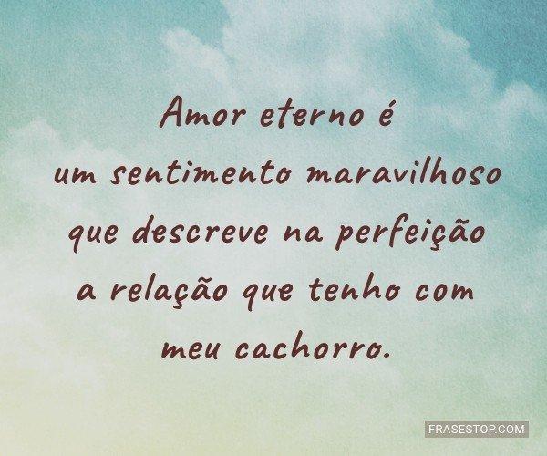 Amor eterno é um...