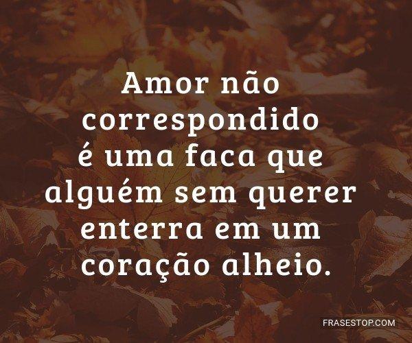 Amor não correspondido...