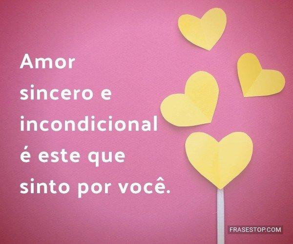 Amor sincero e...