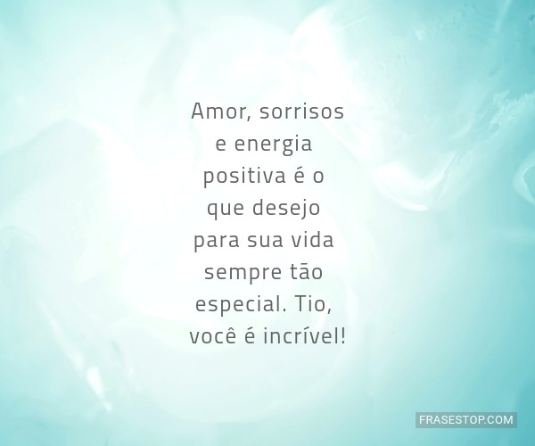 Amor, sorrisos e energia...