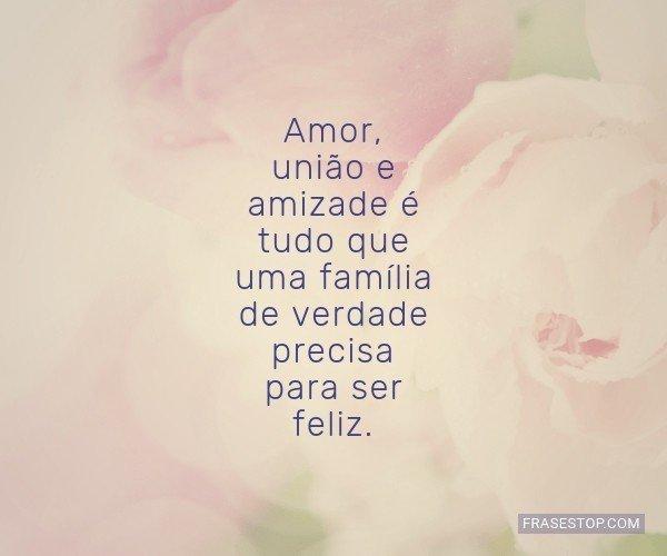 Amor, união e amizade é...