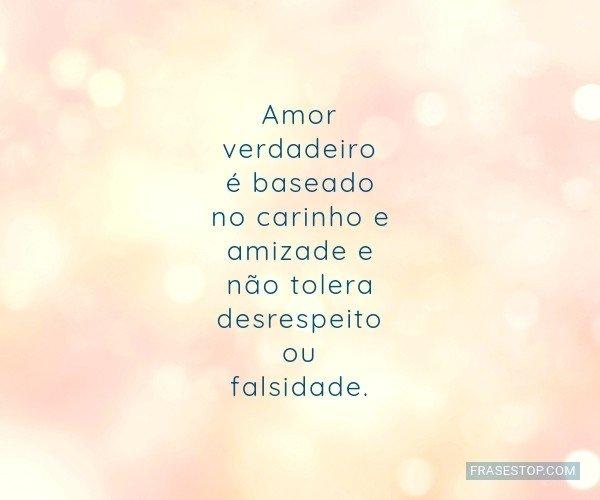 Amor verdadeiro é...