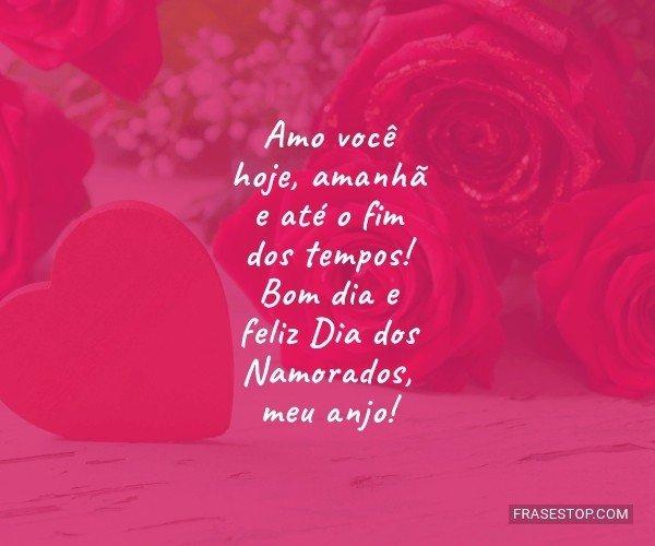 Amo você hoje, amanhã e...