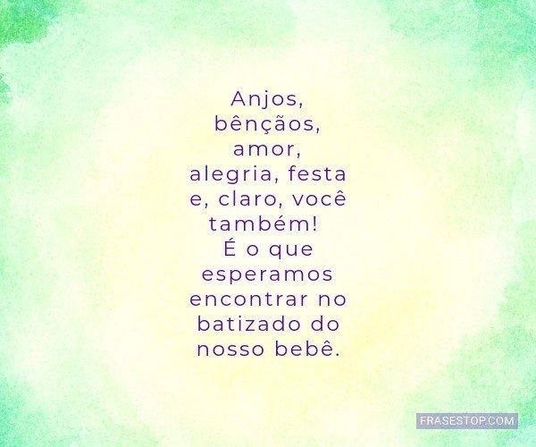 Anjos, bênçãos, amor,...
