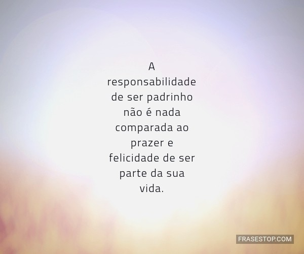 A responsabilidade de ser...