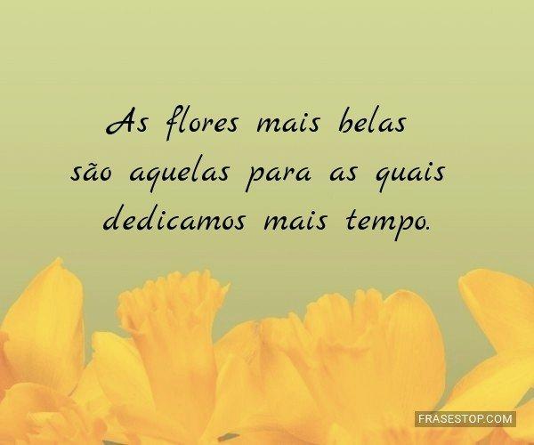 As flores mais belas são...