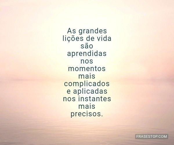 As grandes lições de...
