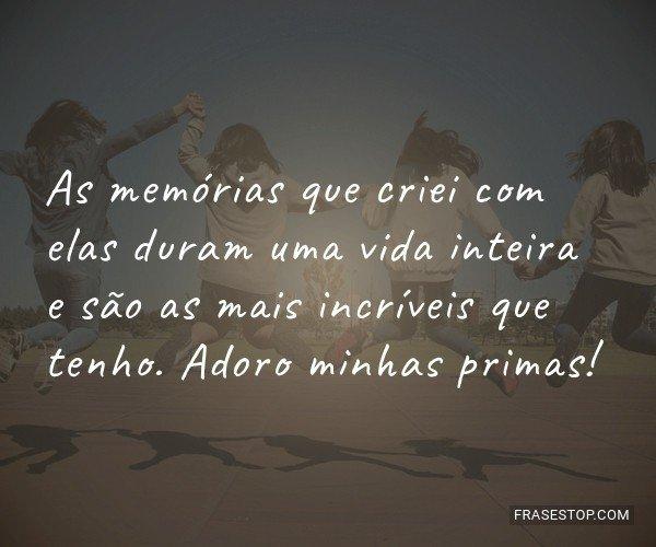 As memórias que criei...