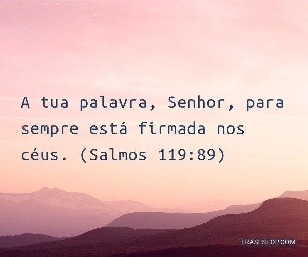 A tua palavra, Senhor,...