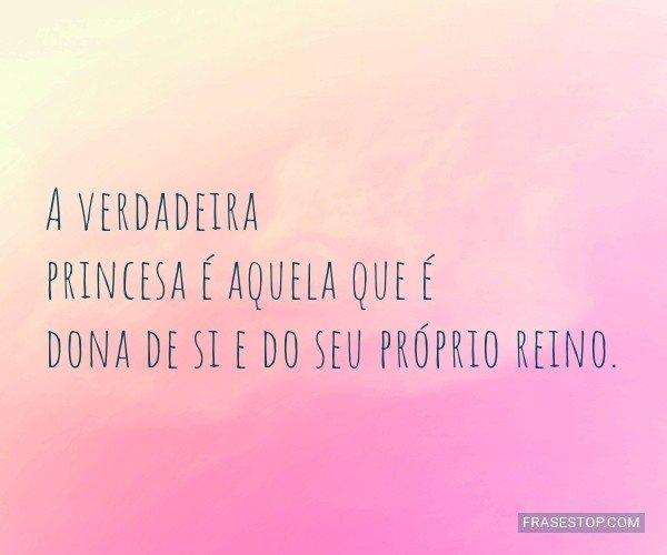 A verdadeira princesa é...