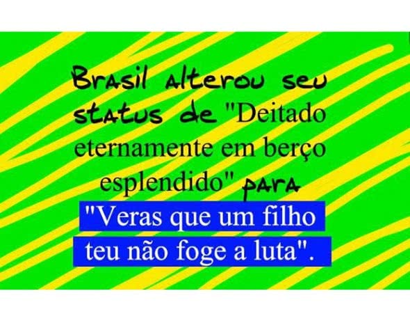 Brasil alterou seu status...