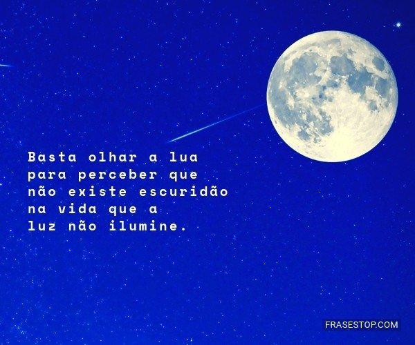 Basta olhar a lua para...