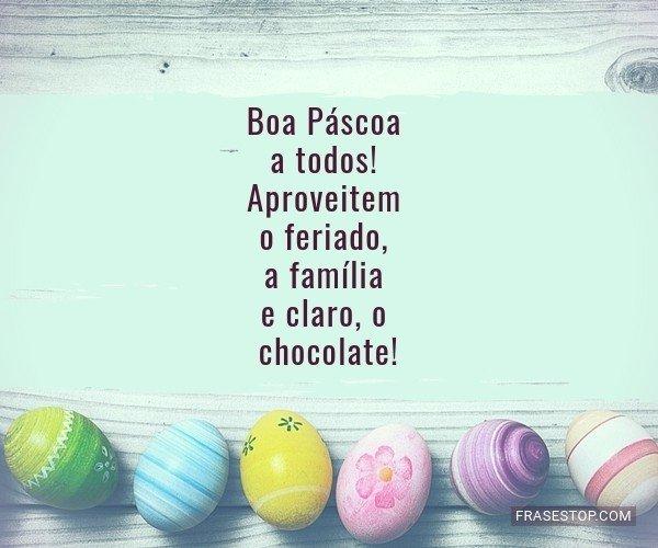 Boa Páscoa a todos!...