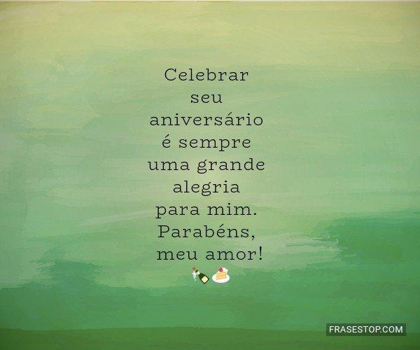 Celebrar seu aniversário...