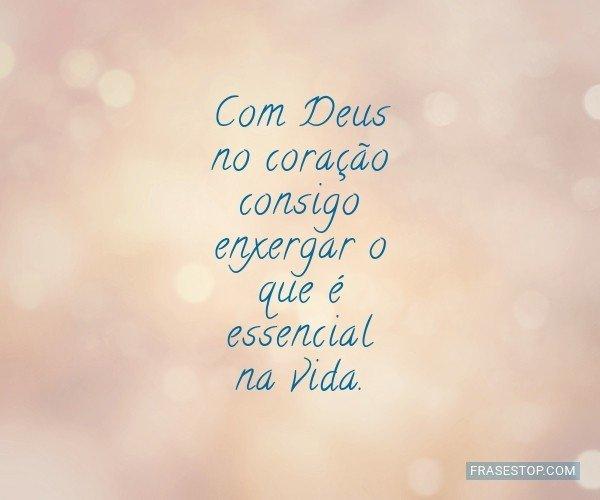 Com Deus no coração...
