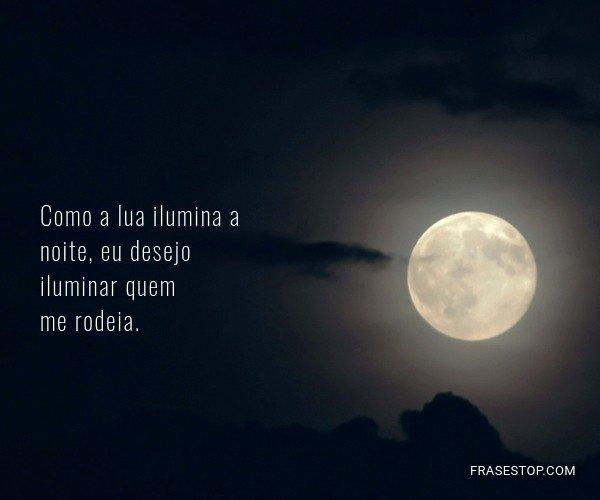 Como a lua ilumina a...