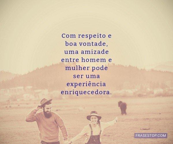 Com respeito e boa...