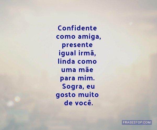 Confidente como amiga,...