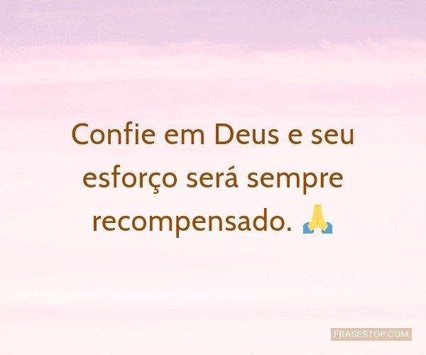 Confie em Deus e seu...